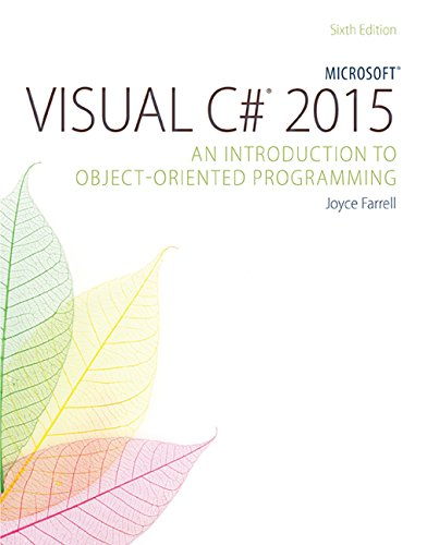 Microsoft Visual C# Introduction