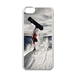 iPhone 5c Cell Phone Case White Snowboarding Phone Case Covers Protective Personalized XPDSUNTR28335