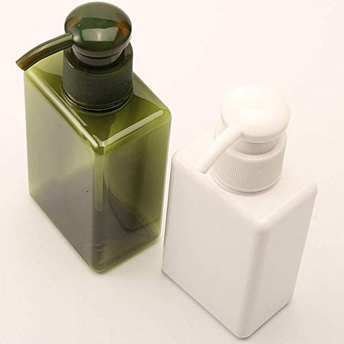 (Bottles Lotion Container Large Pump Plastic Shampoo Refillable Travel Bottle 4 Colors Living Essentials white)