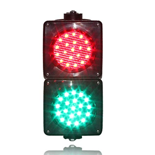 Wei De Mei LED 100mm 4 Inch 110V Red Green Two Aspects PC Traffic Signal -