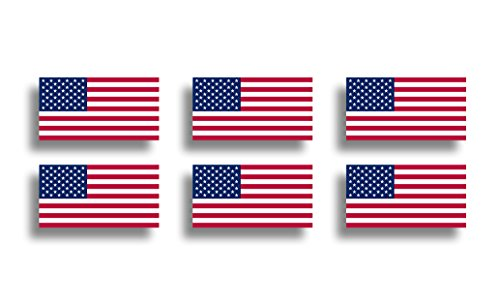 Gloss Label High Sheet Oval (Mini USA Flag Sticker American Vinyl Decals Tag Car Truck Cup Window Graphic Plate)