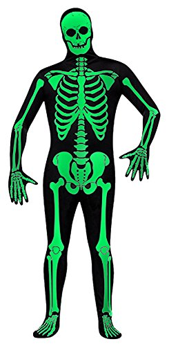 Green Man Factory Adult Green Glow Skeleton Body Suit - Small (Glow In The Dark Skeleton Suit)