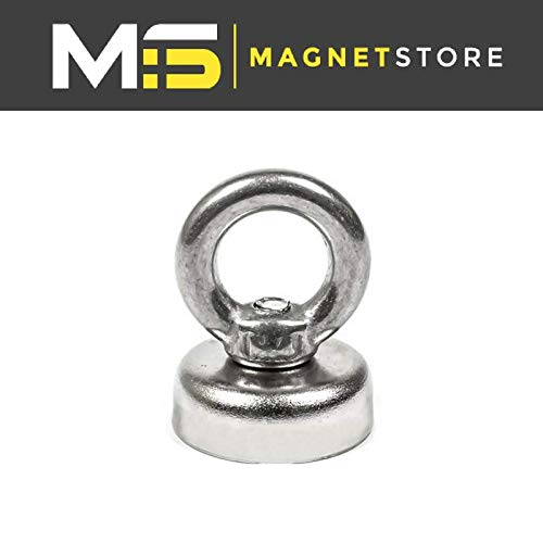 Super Strong Neodymium Recovery Fishing Magnet 20mm 10kg 22lbs pull Eyebolt