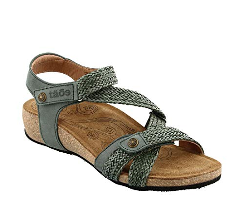 Taos Footwear Footwear Women's Trulie Vintage Green Sandal 10-10.5 M US