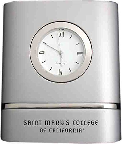 Saint Mary's College of California- Two-Toned Desk Clock -Silver