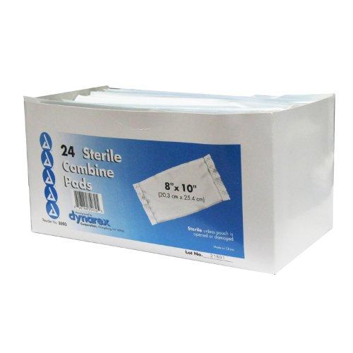 Dynarex Abdominal Pad, 8 X 10 Sterile, 24 Count