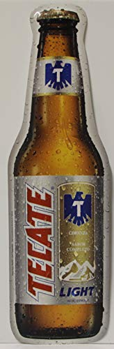 Tecate Light Cerveza Beer Metal Sign die Cut Bottle for sale  Delivered anywhere in USA