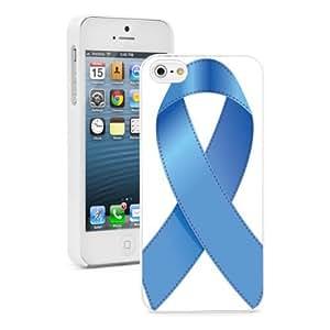 Apple iPhone 4 4S 4G Hard Back Case Cover Color Blue Child Abuse Awareness Ribbon (White) wangjiang maoyi
