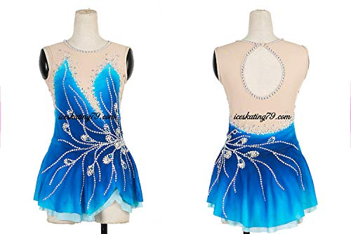 c5a5312a7 LIANA Ice Skating Dress/Girl Custom/Figure Skating Clothe/Twirling/Leotard/Baton  Custom/Women/Blue