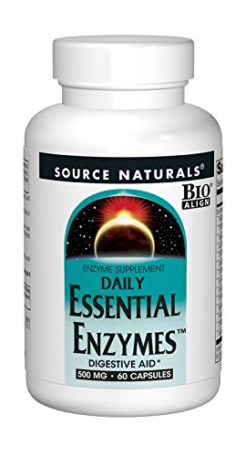 Source Naturals Essential Enzymes 500mg Bio-Aligned Multiple Enzyme Supplement Herbal Defense For Daily Digestive Health – Supports A Strong Immune System – 60 Capsules For Sale