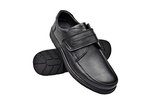Zerimar Hommes Chaussures En Cuir Hommes Chaussures Décontractées Chaussures Pour Hommes À Porter Des Chaussures De Travail Couleur Noir Taille 40
