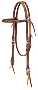 Weaver Leather Stockman Browband Headstall with Spots, Sunset