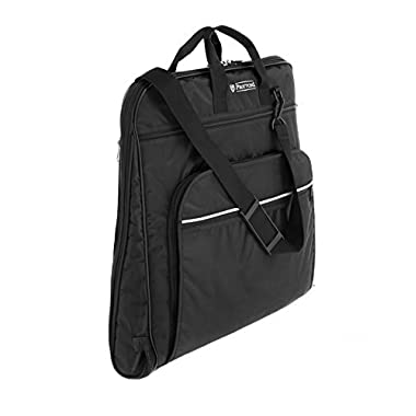 Prottoni 44  Garment Bag with Shoulder Strap - Built in Hook - 4 Zippered Pockets - Carry On Suit Bag