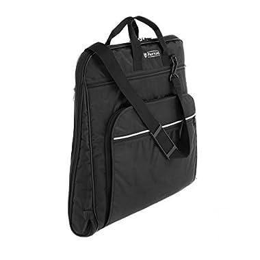 Prottoni 44  Garment Bag with Shoulder Strap - Built in Hook - 4 Zippered Pockets - Carry On Suit Bag