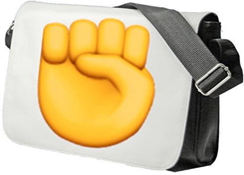 """Schultertasche """"Erhobene Faust"""" Schultasche, Sidebag, Handtasche, Sporttasche, Fitness, Rucksack, Emoji, Smiley"""