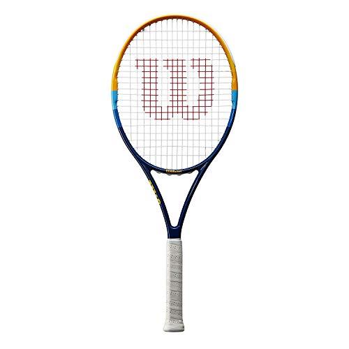 Wilson Raqueta de Tenis, Prime, Principiantes y Jugadores intermedios, Azul/Naranja, Tamaño de empuñadura L2, Unisex Adulto a buen precio