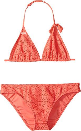 Roxy Kids Girl's Girly Tri Set (Big Kids) Sugar Coral - Brands Suit Tri
