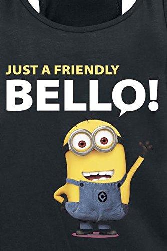 Minions Just A Friendly Bello Girl-Top schwarz L