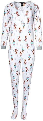 ladies pajamas with feet - 2