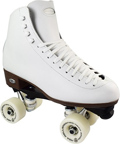 Riedell 120 White Uptown Plus High Top Roller Skates with