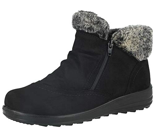 Casual Bottines Filles Confort Dames 8 3 Coussin Tailles Pied Lgre black Chaud C Fourrure Femmes Uk Double Hiver WgSwA8cUqw