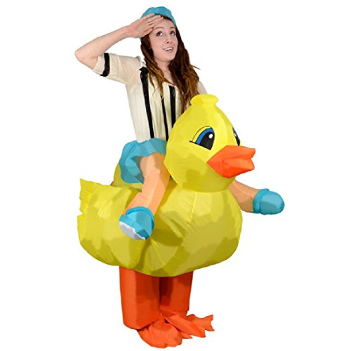 Ride On Ostrich Mascot (Adults Inflatable Costume Animal Mascot Halloween Anime Cosplay)