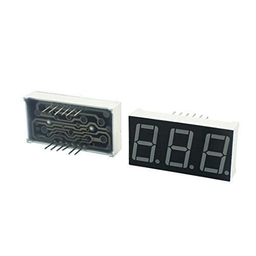 uxcell Red LED Digital Display 3-Bit 7-Segment Common Anode 0.56