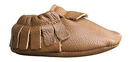 (Lucky Love Baby Moccasins, Genuine Leather 12-18 Months / 5 M US Toddler- Cognac)