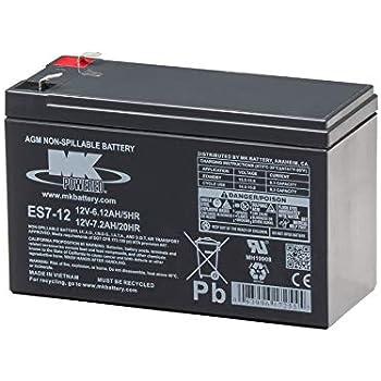 Amazon.com: MK ES17 – 12 Maintenance-free recargable Sealed ...