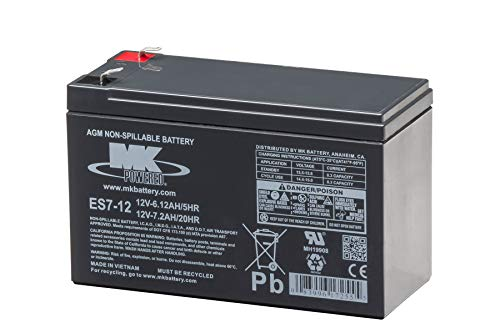 MK Battery ES7-12 Maintenance-Free Rechargeable Sealed Lead-Acid Battery