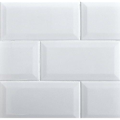 White Subway Tile Kitchen Backsplash: White Subway Tile Backsplash: Amazon.com