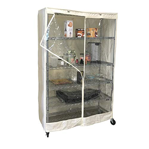 - Storage Shelving unit cover Off White, fits racks 48