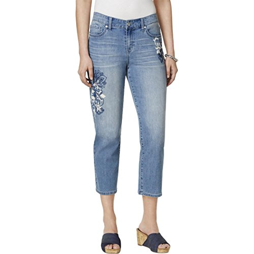 Buy style & co. womens printed curvy capri jeans