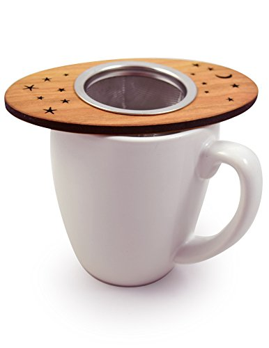 Tea Nest Strainer/Infuser, American Cherry Wood and Stainless Steel by Modern Artisans (Image #5)