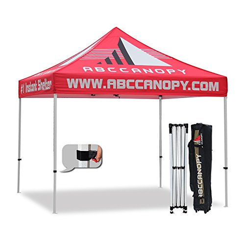 ABCCANOPY Pro-40 10 x 10 Trade Show Canopy Tent Custom Pop up Marquee with Bag Bonus 4PCS Fillable Weights with Custom - Canopy Sleeves
