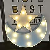 Decorative Moon-star Night Light,Cute LED Nursery