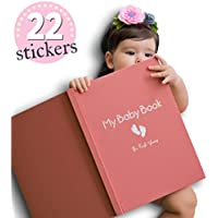 Baby Memory Book for Girls Modern Journal Keepsake Scrapbook for First 5 Years