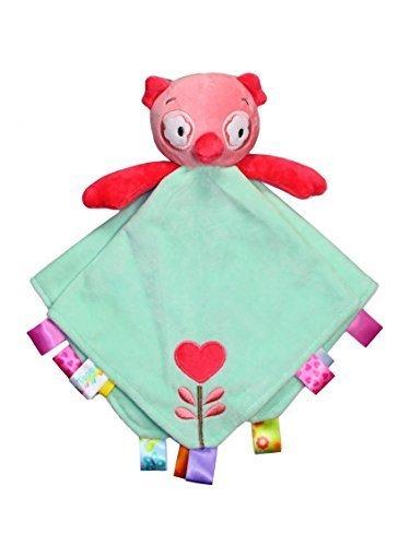 Taggies Rattle Head Owl Baby Girl Plush Security Blanket Lovie by Taggies by Taggies (Taggie Ball)