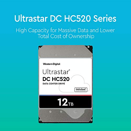 HGST - WD Ultrastar DC HC520 HDD | HUH721212ALE600 | 12TB 7.2K SATA 6Gb/s 256MB Cache 3.5-Inch | ISE 512e | 0F30144 | Helium Data Center Internal Hard Disk Drive by HGST (Image #1)