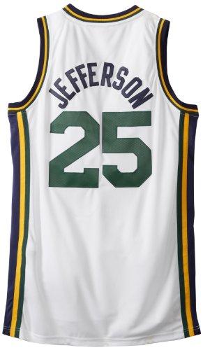 NBA Utah Jazz White Swingman Jersey Al Jefferson #25 Jazz, XX-Large
