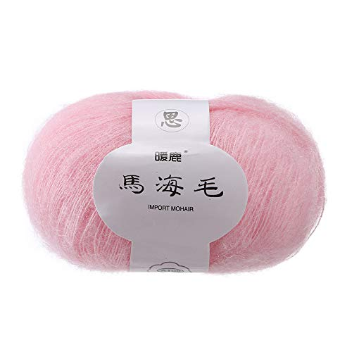 Gotian Hand-Woven Soft Mohair Knitting Wool Yarnn, DIY Shawl Scarf Crochet Thread Supplies Warm Soft Natural Hat Baby Crochet Knitwear Household Hand Knitting (L) ()