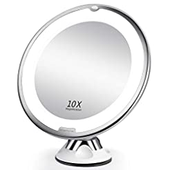 BEAUTURAL 10X Magnifying Makeup Mirror w...