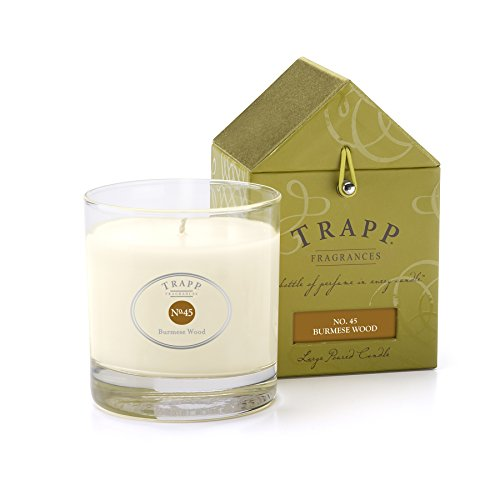 Trapp Signature Home Collection No. 45 Burmese Wood Poured Scented Candle, 7-Ounce (Burmese Wood Candle)