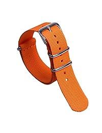 14mm Orange Youthful Delicate Women's One-piece NATO style Nylon Perlon Watch Bands Straps Textile