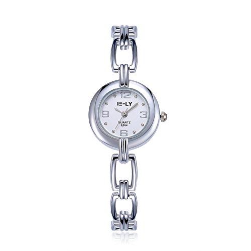 Rockyu ブランド 人気 レディース 女性 サファイアガラス 海外ブランド シルバー レディース時計