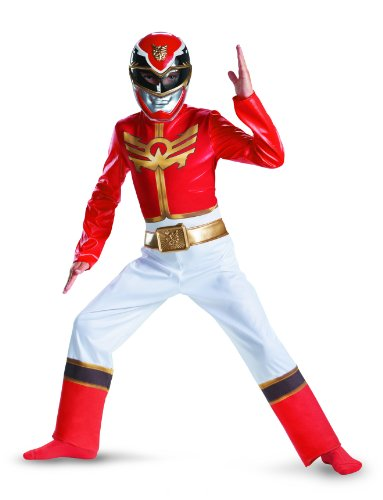 Power Rangers Megaforce Red Ranger Costume (Power Rangers Red Ranger Megaforce Classic Child Costume LARGE)