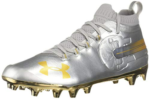 Under Armour Men's Spotlight-Limited Edition Football Shoe, Silver (100)/Metallic Gold, 11