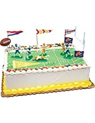 CakeSupplyShop 14piece Football Party Complete Birthday Party Cake Decoration Topper Kit