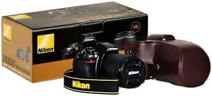 DSstyles marrón funda de piel Para Cámara Nikon D5300 Cámaras con ...
