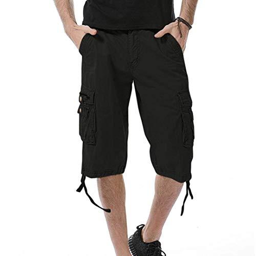 Playa Cortos En Al Bolsas Aire 4 Trabajo Cargo Pantalones Libre Los Negro Verano La Puro Hombres 3 Color De HTZwqxxz